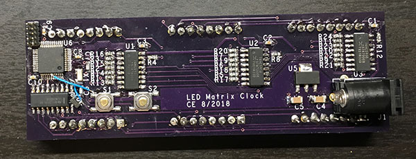 PCB side of the clock.