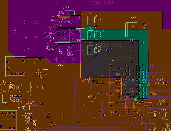 FPGA power plane layout